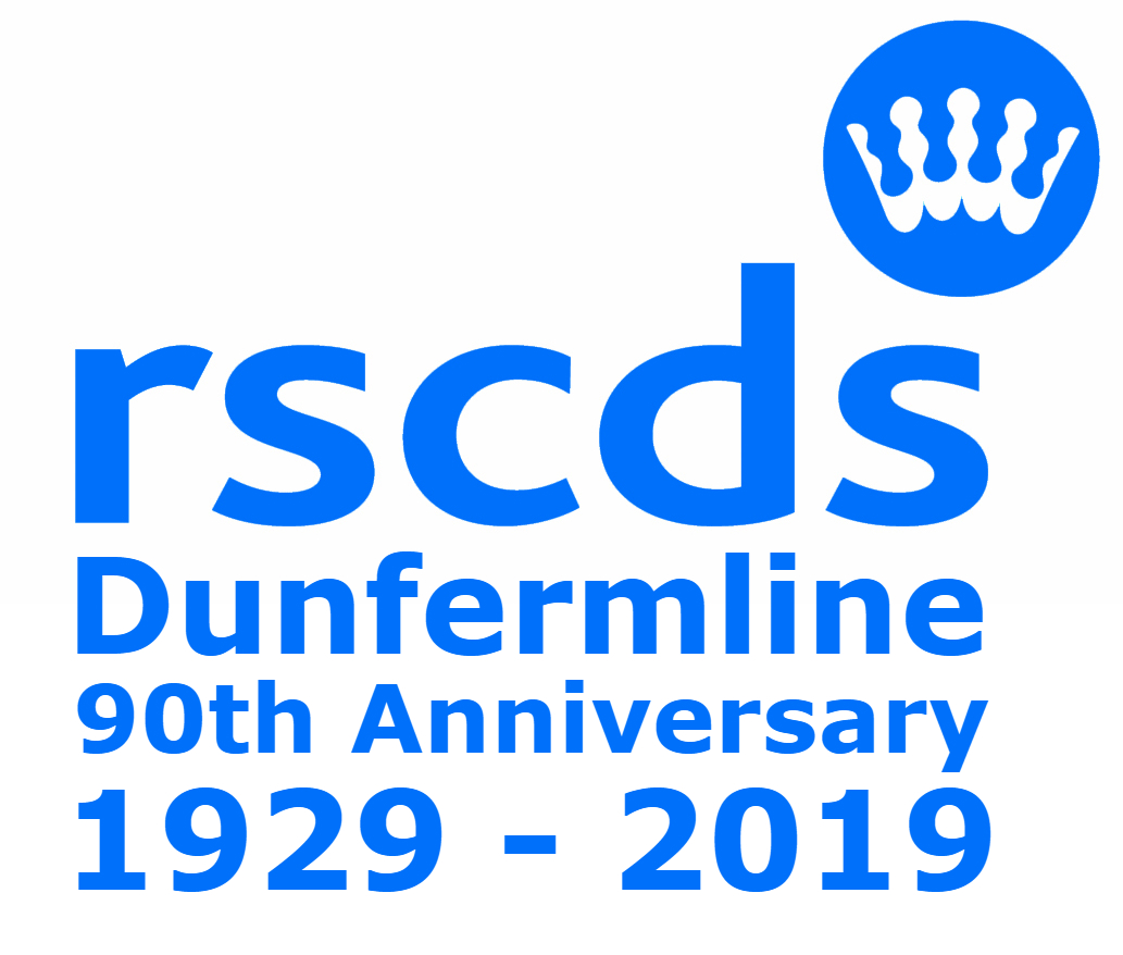 RSCDS Dunfermline 90th logo Colour 1033x878