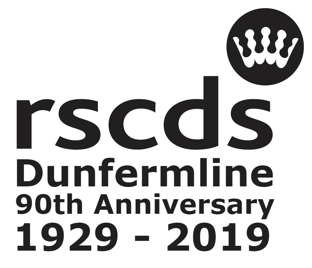 RSCDS Dunfermline 90th logo black 1023x880